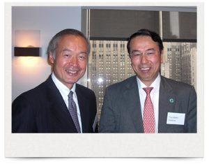 ビル・アンド・メリンダ・ゲイツ財団 Global Health Program President Tadataka Yamada, M.D. 氏と筒井理事長